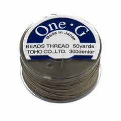 Toho One-G Nylon Light Khaki Thread 50 yard bobbin