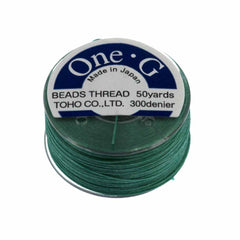 Toho One-G Nylon Mint Green Thread 50 yard bobbin
