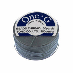 Toho One-G Nylon Grey Thread 50 yard bobbin