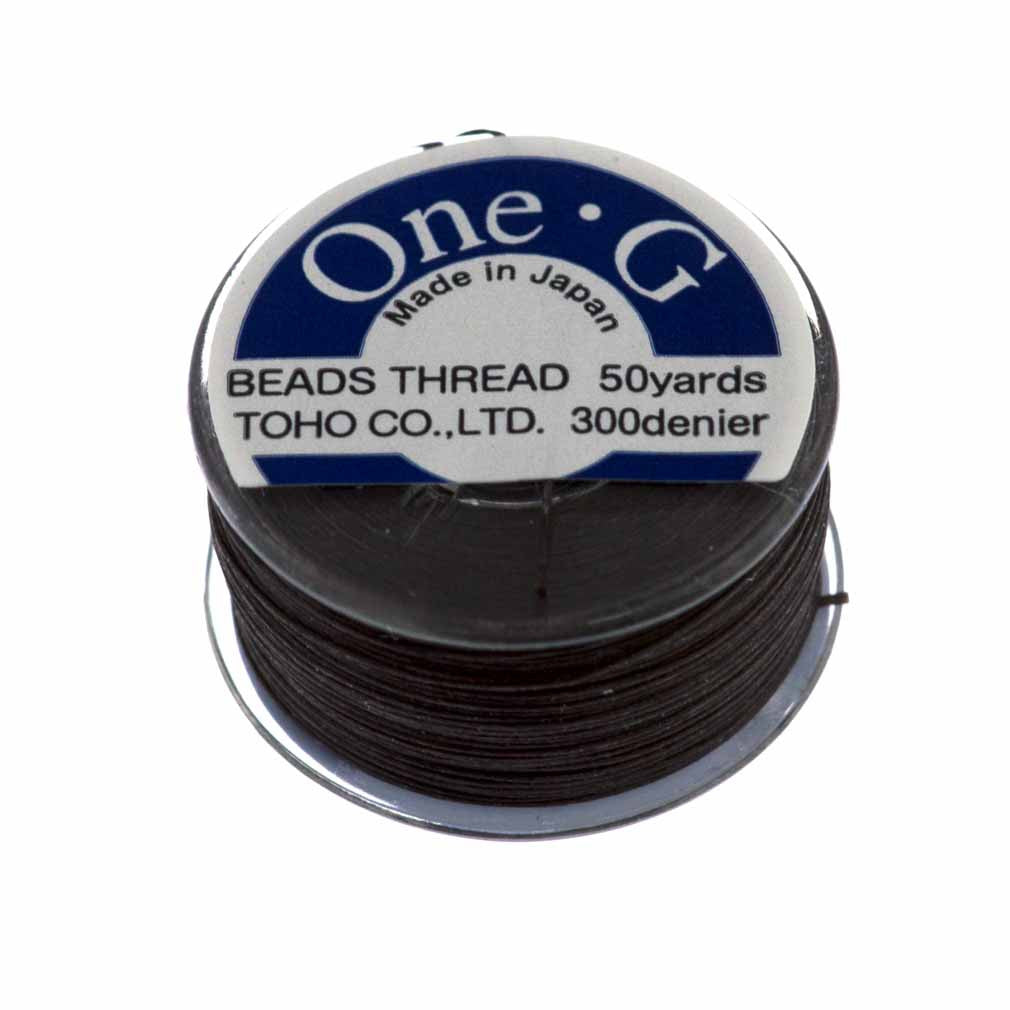 Toho One-G Nylon Brown Thread 50 yard bobbin