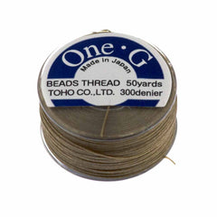 Toho One-G Nylon Sand Ash Thread 50 yard bobbin