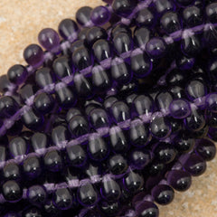 90 Czech 6x4mm Tear Drop Tanzanite Beads (20510)
