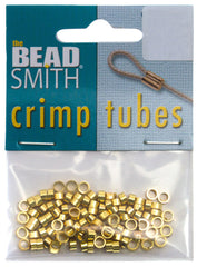 BeadSmith Gold Plated 4x2mm Crimp Tube Beads