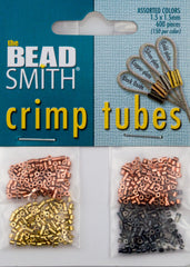 BeadSmith Variety Pack 1.5x1.5mm Crimp Tube Beads