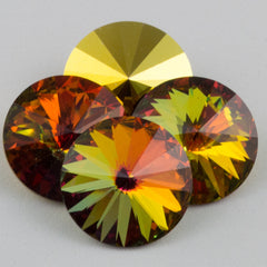Four Swarovski Crystal 14mm 1122 Rivoli Golden Sahara (001 GLDS)