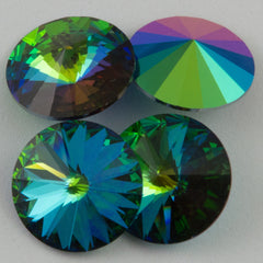 Four Swarovski Crystal 12mm 1122 Rivoli Green Sphinx (001 GRS)