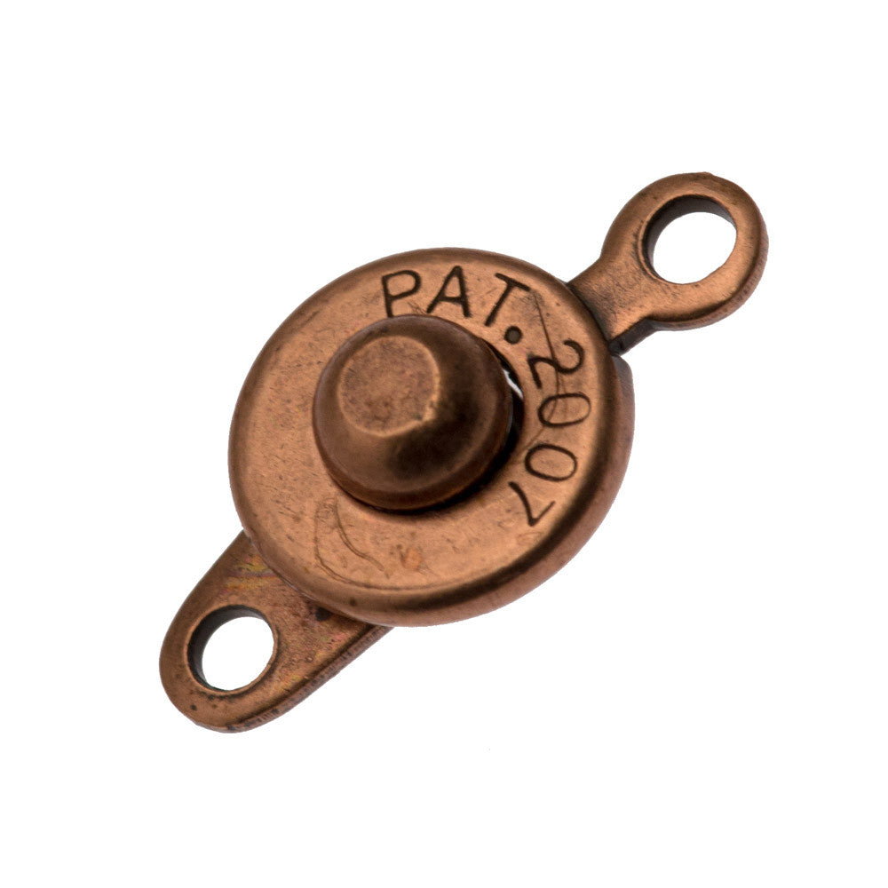 Antique Copper Ball and Socket 7x13mm Clasp