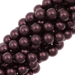 100 Swarovski 5810 4mm Round Burgundy Pearl Beads