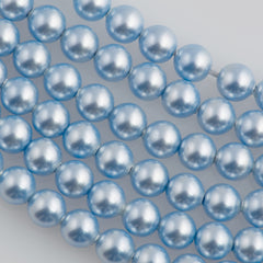 100 Swarovski 5810 4mm Round Light Blue Pearl Beads