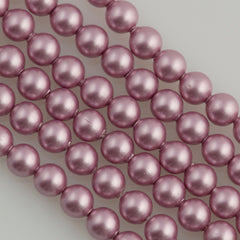 100 Swarovski 5810 4mm Round Powder Rose Pearl Beads