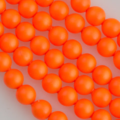 Swarovski 5810 4mm Round Neon Orange Bead