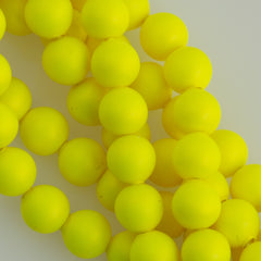 100 Swarovski 5810 4mm Round Neon Yellow Pearl Beads