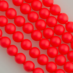 Swarovski 5810 4mm Round Neon Red Bead