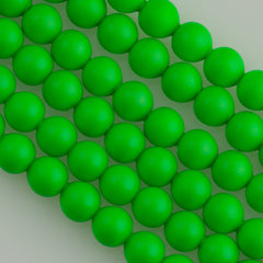 Swarovski 5810 4mm Round Neon Green Bead