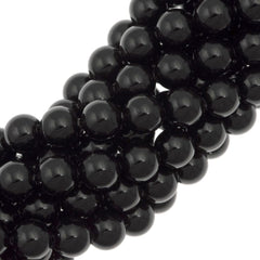 200 Swarovski 5810 3mm Round Mystic Black Pearl Beads