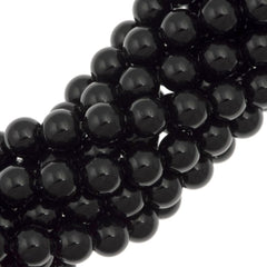 100 Swarovski 5810 4mm Round Mystic Black Pearl Beads