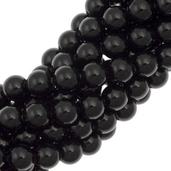 100 Swarovski 5810 6mm Round Mystic Black Pearl Beads