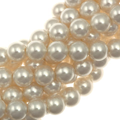 100 Swarovski 5810 6mm Round White Pearl Beads