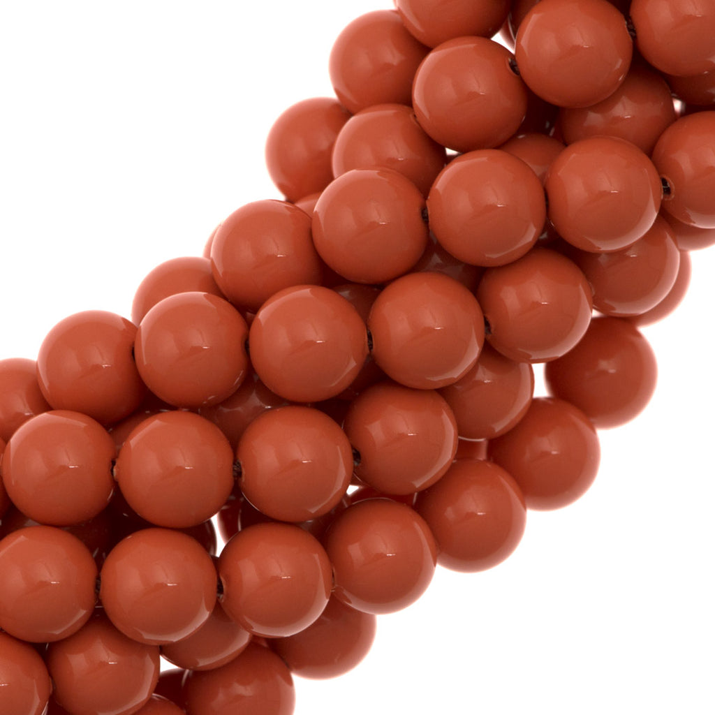 100 Swarovski 5810 6mm Round Coral Pearl Beads