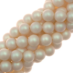 100 Swarovski 5810 6mm Round Pearlescent White Pearl Beads