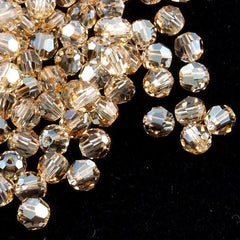 12 Swarovski Crystal 4mm Faceted Round Bead Crystal Golden Shadow (001 GSHA)