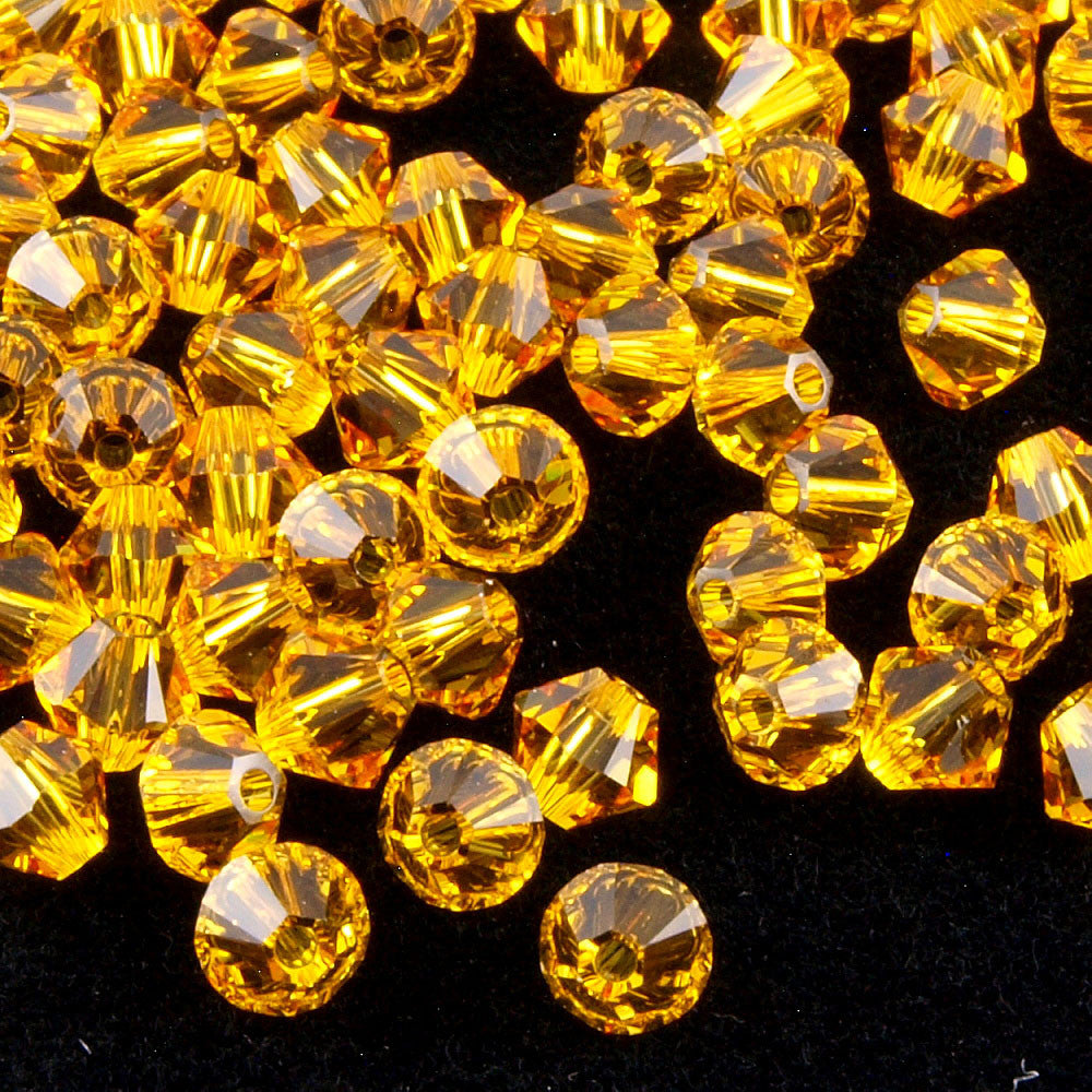 Swarovski Crystal 2.5mm 5328 Xilion Bicone Bead Sunflower