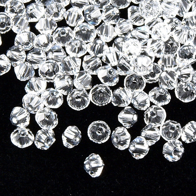 144 Swarovski 5328 Xilion 3mm Bicone Beads Crystal Clear (001)