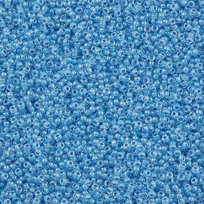 Miyuki Round Seed Bead 15/0 Inside Color Lined Faded Denim 2-inch Tube (221)