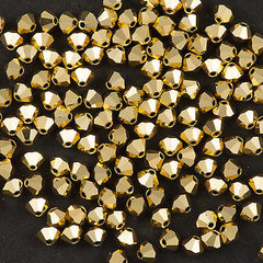 72 Preciosa Czech Crystal 6mm MC Bicone Bead Crystal Aurum Full HA6-00030AURFL