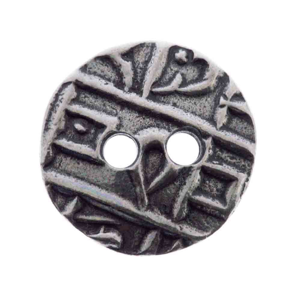 17mm TierraCast Antiqued Pewter Round Coin Button