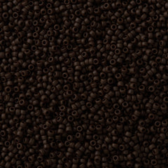 Toho Round Seed Bead 15/0 Opaque Matte Brown 10g (46F)