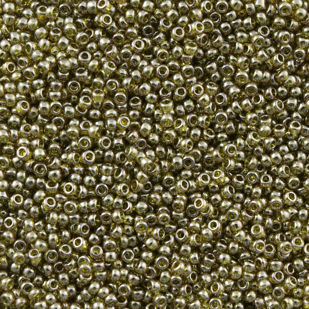 Toho Round Seed Bead 11/0 Gold Luster Green Tea 15g (457)