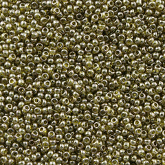 Toho Round Seed Bead 11/0 Gold Luster Green Tea 19g Tube (457)