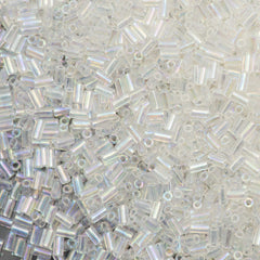 25g Toho 3mm Bugle Bead Transparent Crystal AB (161)