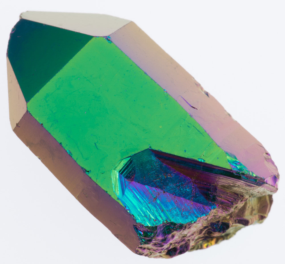 Aura Crystals Rainbow Quartz Point