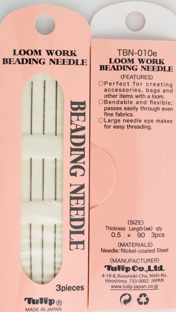 3 Tulip Loom Work Beading Needles 90mm size .2mm
