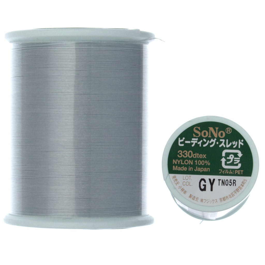 SoNo Grey Beading Thread 100 Meter
