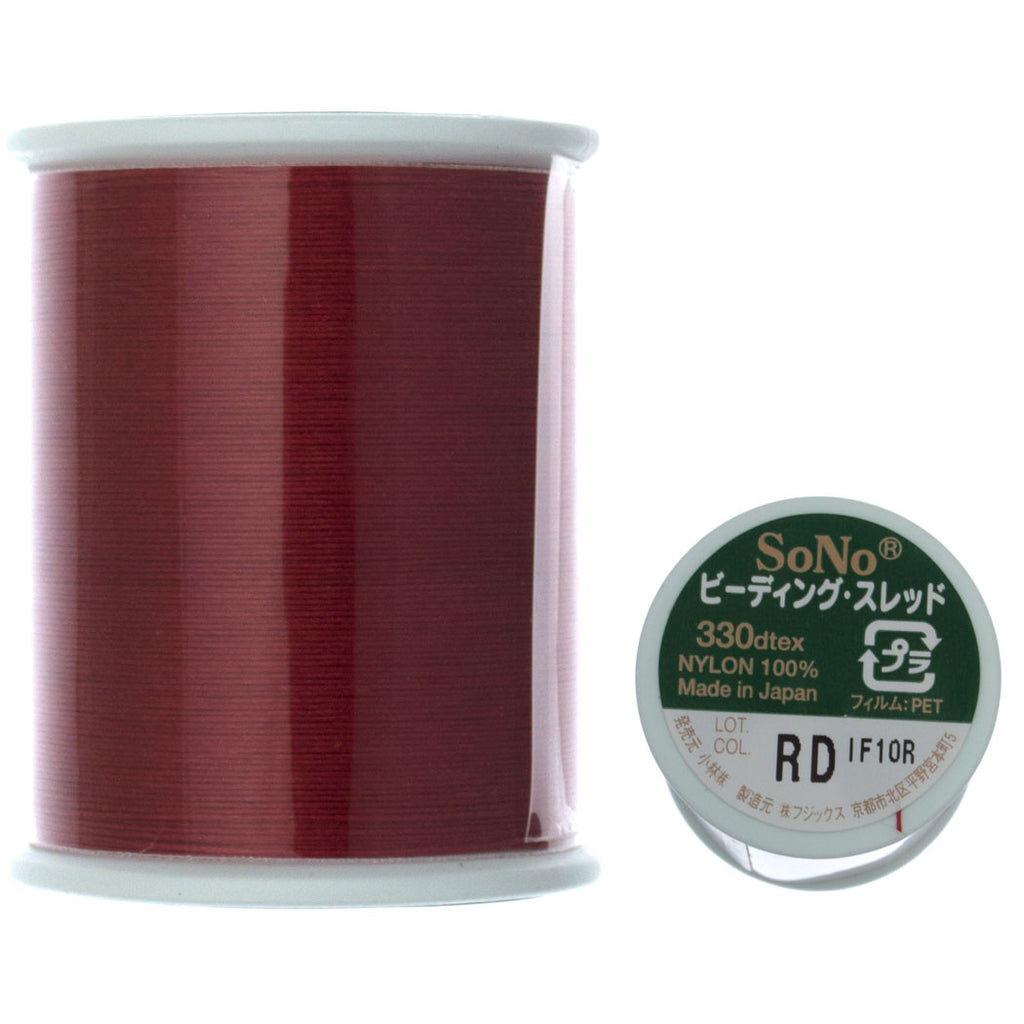 SoNo Red Beading Thread 100 Meter