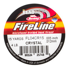 Fireline Crystal 4Lb Beading Thread 15 yard Spool