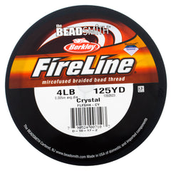 Fireline Crystal 4Lb Beading Thread 125 yard Spool