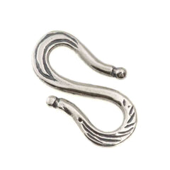 Decorative S Hook Link Sterling Silver 20x12mm