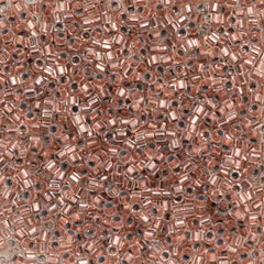 Miyuki Hex Cut Delica seed bead 11/0 Copper Lined 7g Tube DBC37