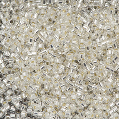 Miyuki Hex Cut Delica Seed Bead 11/0 Silver Lined Crystal 7g Tube DBC41