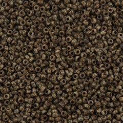 Miyuki Round Seed Bead 11/0 Opaque Brown Picasso 22g Tube (4517)