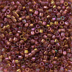 Miyuki Delica Seed Bead 10/0 Gold Red Luster 7g Tube DBM103