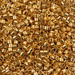 Miyuki Delica Seed Bead 10/0 Gold 24kt Plated 7g Tube DBM31