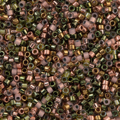 Miyuki Delica Seed Bead 11/0 Mix Copper Roses 7g Tube (9076)