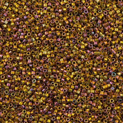 25g Miyuki Delica Seed Bead 11/0 24kt Gold Plated Pink AB DB507