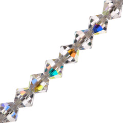 72 Preciosa Czech Crystal 6mm MC Bicone Bead Crystal AB (00030AB)