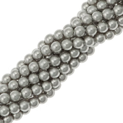 100 Swarovski 5810 4mm Round Light Grey Pearl Beads
